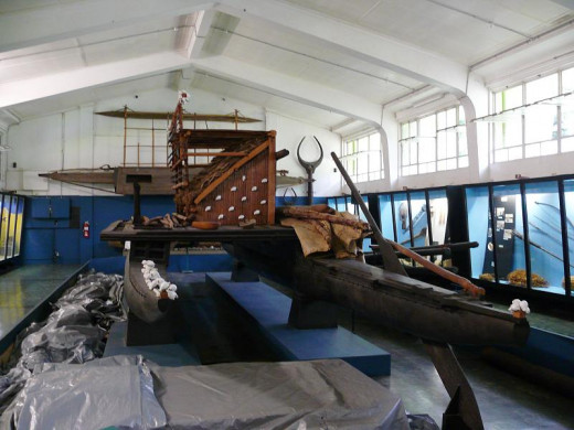 Traditional Boat in the Fiji Museum