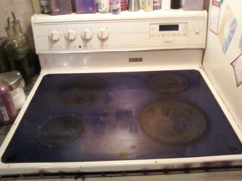 Used glass top stoves that weren't properly maintained over the course of time