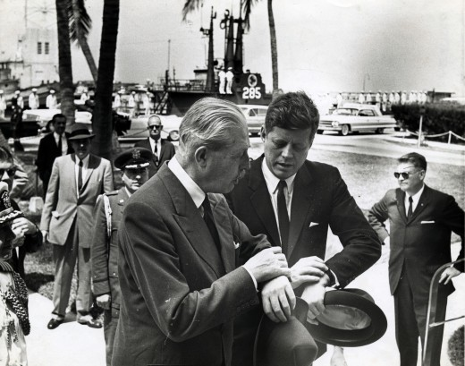 British PM Harold Macmillan (seen here with JFK) managed the crisis almost single handed