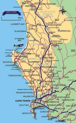 West Coast, South Africa (the yellow colour) @ All Cape Accommodation