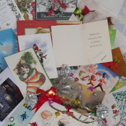 Christmas greeting cards. You can write a little or a lot.