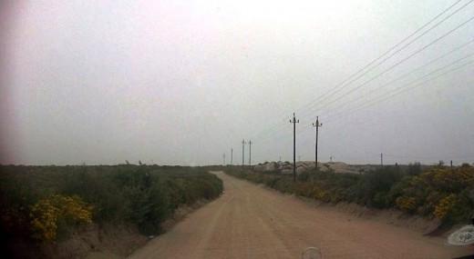 A dirt road between farms, West Coast Peninsula, South Africa