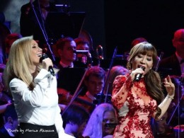 Lara Fabian and Sumi Jo in the Kremlin Palace in Moscow, Russia, in Igor Krutoy's 60th birthday celebratory concert - November 2014.