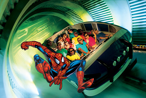 Spiderman Ride in Universal Studios