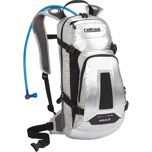 Camelbak Men's M.U.L.E. Hydration Pack (100-Ounce/763 Cubic-Inch, Tin Man Silver)