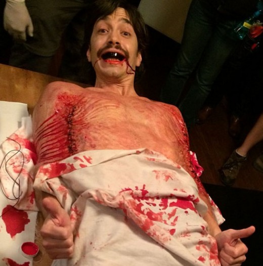 "Justin Long as the tormented Wallace Bryton in Kevin Smith's ""Tusk"""