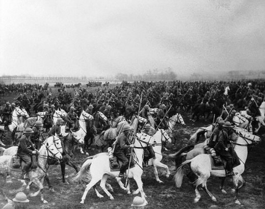 Polish cavalry during maneuvers.
