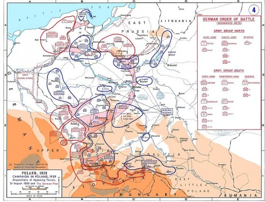 Disposition of forces and the German plan.