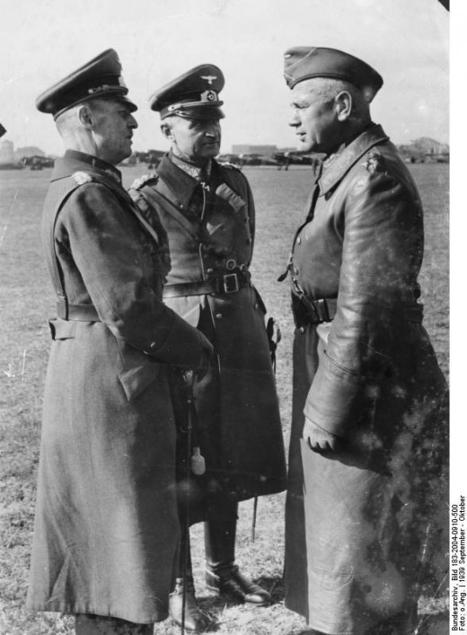 Rundstedt (left), Reichenau (center) and Blaskowitz (right).