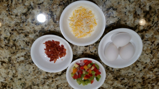 Omelette Muffin Ingredients