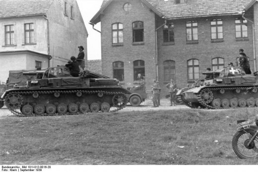 Panzer IVs in Poland.