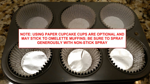 Preparing the Muffin Pans