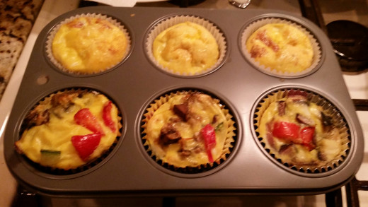 Cooked Omelette Muffins Without Cheese