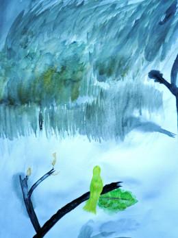 Hui (蕙) Water Color Drawing
