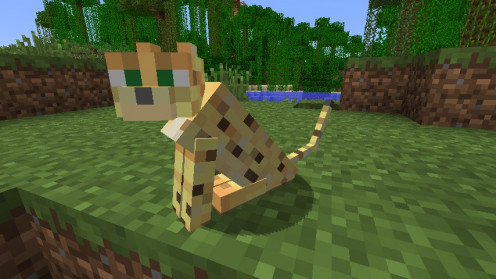 A Baby Ocelot in the Minecraft Game - the Plush Toy is the best present for any child or children who like this game