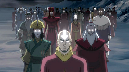 Aang and other Avatars.