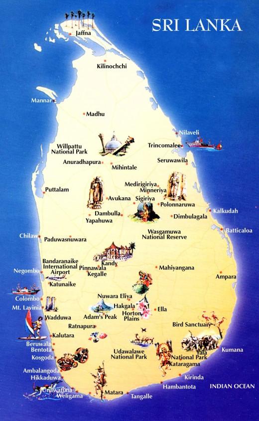 Popular destinations in Sri Lanka