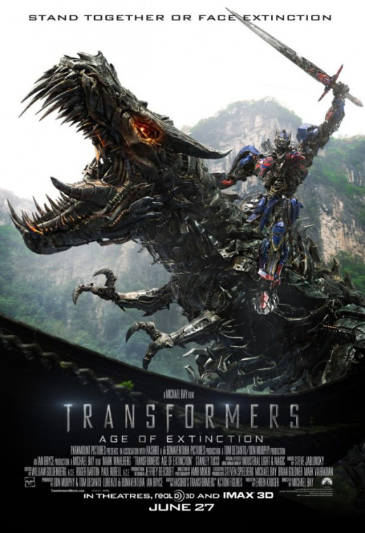 Another Theatrical Poster of Optimus Prime and Grimlock