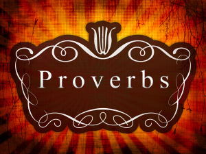 Introductory picture of Proverbs will served as the caption of my article in Hub Pages.