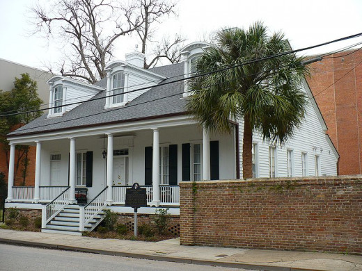 Creole house in downtown Mobile, the Lower Dauphin HIstoric District