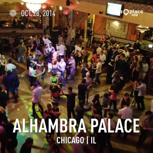 Salsa dancing at Alhambra Palace on a Tuesday Night!