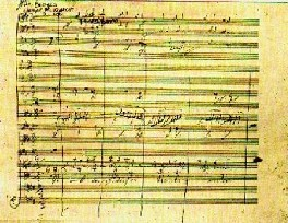 "Score of the ""Ode To Joy."" (Symphony No. 9)"