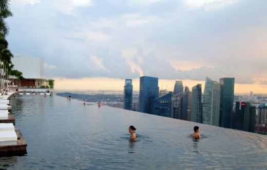 Infinity Swimming Pool of Marina Bay Sands