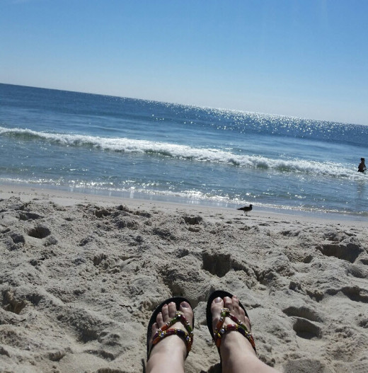 Relaxing at Island Beach State Park