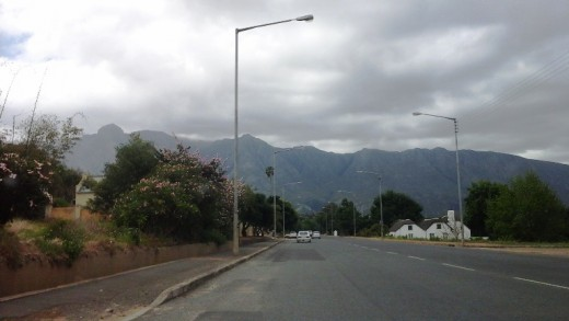 Swellendam at the foot of the Langeberg Mountains, Western Cape, South Africa