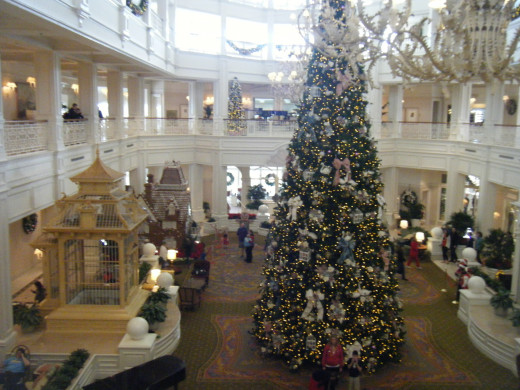 The tree at the Grand Floridian is the larges of all the resort trees.