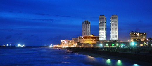 Commercial capital - Colombo - A view from the beach-side