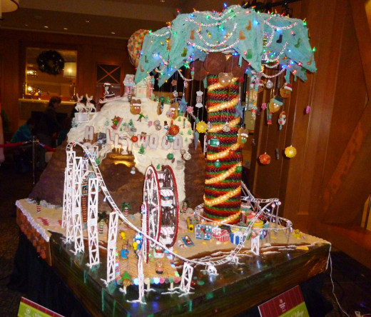 A Gingerbread House at the Seattle Sheraton Gingerbread Village 2014