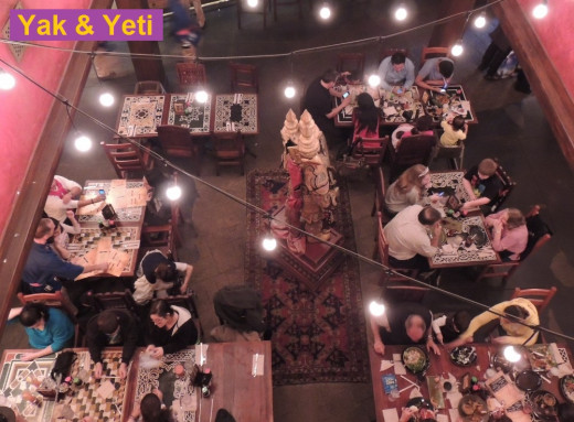 Inside Yak & Yeti - a restaurant in the Asia area of  Disney's Animal Kingdom park at Disney World.