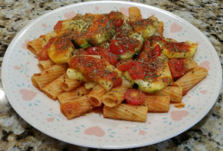 Pasta With Italian Style Zucchini…Healthy and Delicious!