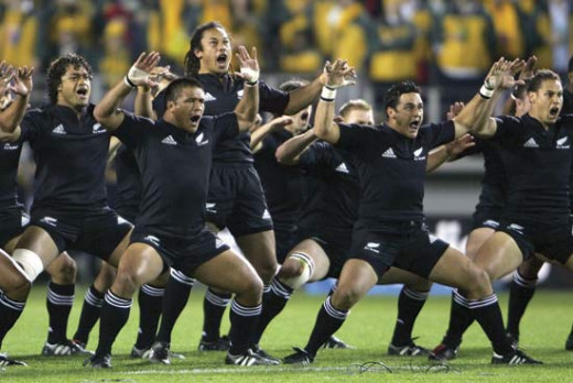 The All Blacks Rugby Team - Maori Dance