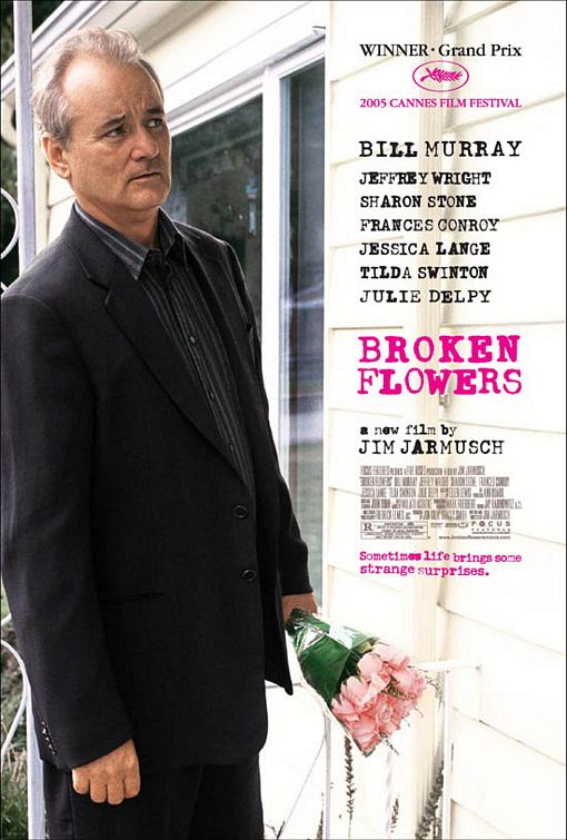 Don waits outside the house of one of his ex-girlfriends, carrying a bouquet of supposedly symbolic pink flowers.