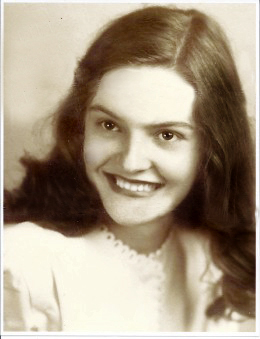 My sweet Mother was an angel right here on this earth for 84 years. Just look at that sweetest smile. She was so very young here in this photo.