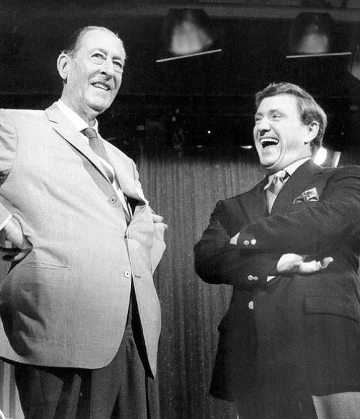 Griffin with his 1960s TV announcer-sidekick Arthur Treacher