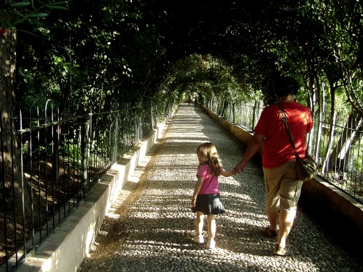 Road in La Alhambra