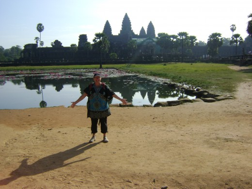 We went early and felt like we had Angkor Wat to ourselves. You can see the humidity setting in and the heat is radiating from the ground. We went to our hotel to cool off and returned later - avoiding the crowds and the heat.