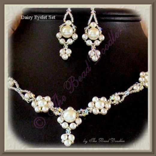 Right Angle Weave with Crystals and Pearls
