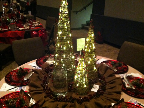 7, Christmas Tree Lights Centerpiece.