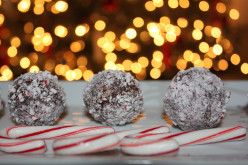 Semi-Healthy No-Bake Candy Cane Chocolate Balls Recipe