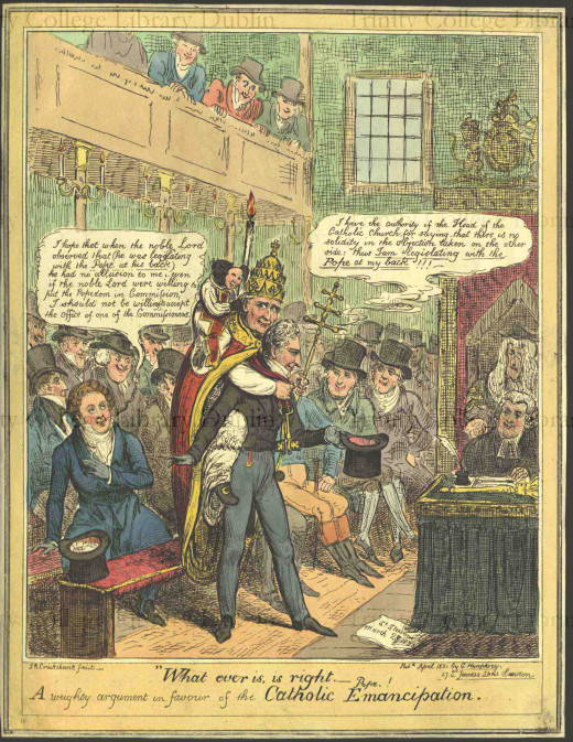 What ever is, is right. - Pope. !, A weighty argument in favour of the Catholic Emancipation. by Isaac Robert Cruikshank, 1789-1856