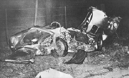 James Dean's Porsche after the accident.