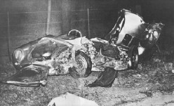 James Dean's Porsche after the accident.