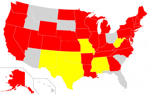States with Texting While Driving Laws, U.S.