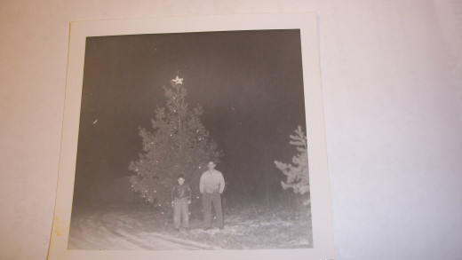 The lights were put on at Christmas Eve each year. I can not remember a Christmas without the tree. 1962