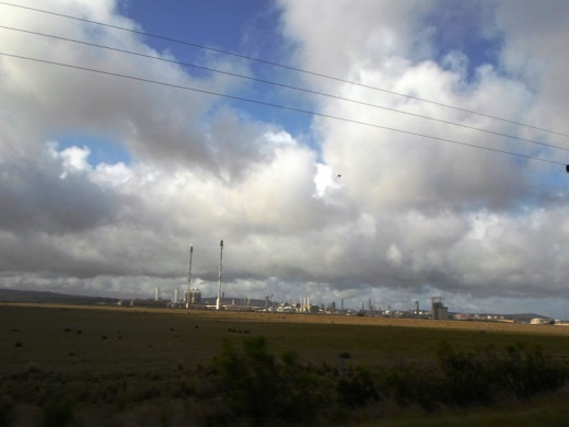 Gas-to-liquids refinery operated by PetroSA (Mossgas) Mossel Bay, Western Cape, South Africa