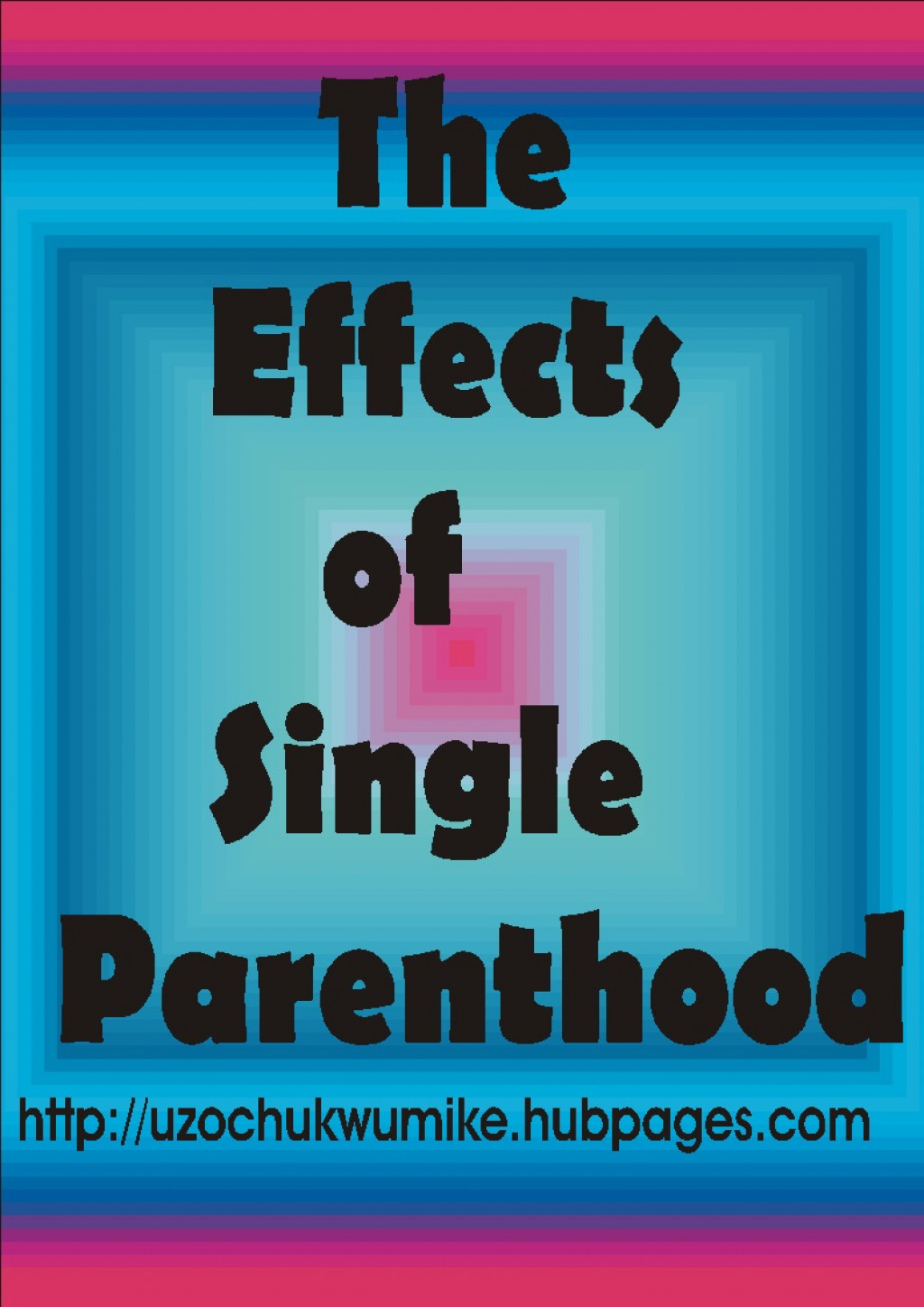 effects of single parenthood Single parenthood in this piece implies either a single mother or father that takes care of children it is a situation whereby a father or a mother takes care of the children in the family without.